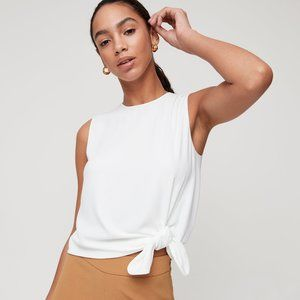 Aritzia Babaton Hopkins Blouse Tie-Front Top